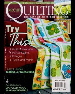 MCCALLS QUICK QUILTS Magazine